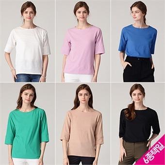 [르오트(LeOT)] 밀라노 세로 핀 스트라이프 조직 티셔츠