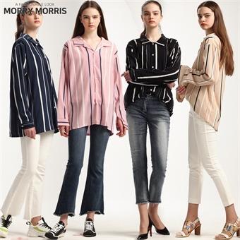 [모리모리스(morry morris)] 매직센스 컬러 스트라이프 루즈핏 셔츠
