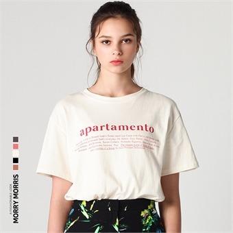 [모리모리스] 아파타멘토 레터링 티셔츠