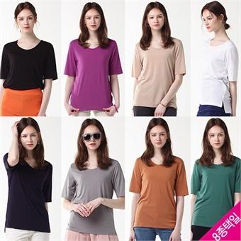 [홈쇼핑방송/르오트] 컬러팝 데일리 티셔츠 8종택일