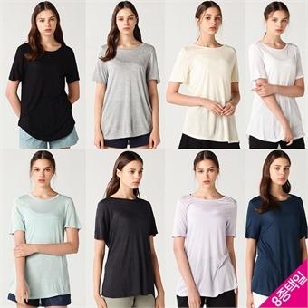 [홈쇼핑방송/보니알렉스] 소프트 썸머 베이직 반팔 티셔츠 8종택일