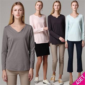 4SET [홈쇼핑방송/르오트] 기능성 티셔츠 4종세트