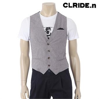 [CLRID.n] 클라이드 남성 면100 배색 베스트 CACVT352M062