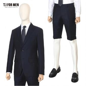 [TI FOR MEN] 티아이포맨 모혼방 패턴 투버튼 정장 수트 M144MTJ108M1NV4_M144MTP108M1NV4
