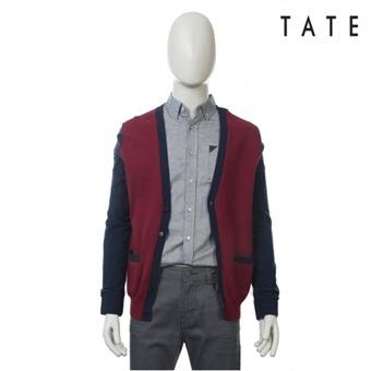 [테이트] 남성 면혼방 배색 가디건 KA4S1MSC020490