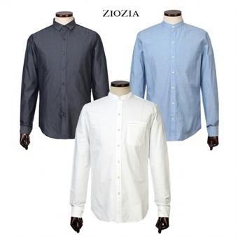 [지오지아] 패턴 배색 긴팔셔츠 12종택1