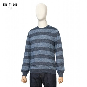 [지오지아] EDITION ANDZ 스트라이프 스웨터 BEV1ER1004BL