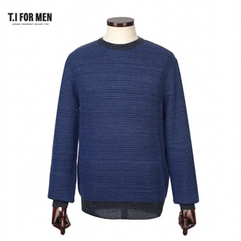 [TI FOR MEN] 티아이포맨 배색 패턴 스웨터 M156MSW408M1BL5