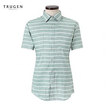 [트루젠] 스트라이프 반팔셔츠 TG6U5MRC640243