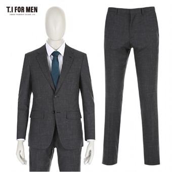 [TI FOR MEN] 티아이포맨 모혼방 투버튼 패턴 정장수트 M164MTJ805M1GY5_M164MTP805M1GY5