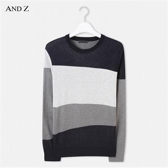 [앤드지] ANDZ 배색 스웨터 BZW3ER1101NV
