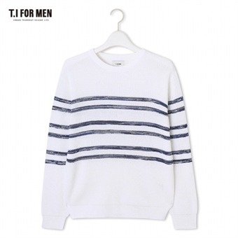 [TI FOR MEN] 티아이포맨 패턴 스웨터 M172MSW402M1WH5