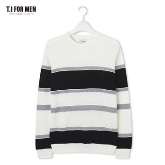 [TI FOR MEN] 티아이포맨 패턴 스웨터 M172MSW406M1WH5