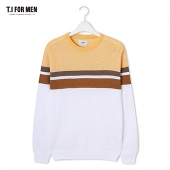 [TI FOR MEN] 티아이포맨 패턴 스웨터 M172MSW412M1OR5