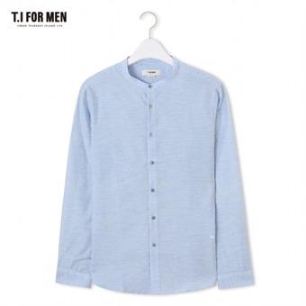 [TI FOR MEN] 티아이포맨 차이나넥 긴팔셔츠 M174MSH758M1BL2