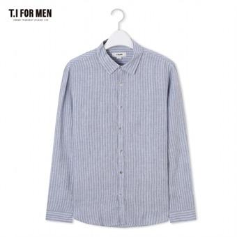 [TI FOR MEN] 티아이포맨 스트라이프 긴팔셔츠 M174MSH755M1GY5