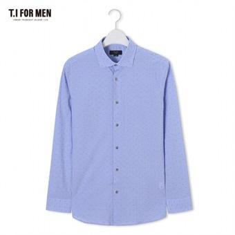 [TI FOR MEN] 티아이포맨 패턴 긴팔셔츠 M172MSH406M1BL5