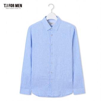 [TI FOR MEN] 티아이포맨 패턴 긴팔셔츠 M174MSH461M1BL5