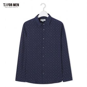 [TI FOR MEN] 티아이포맨 패턴 긴팔셔츠 M174MSH464M1NV5