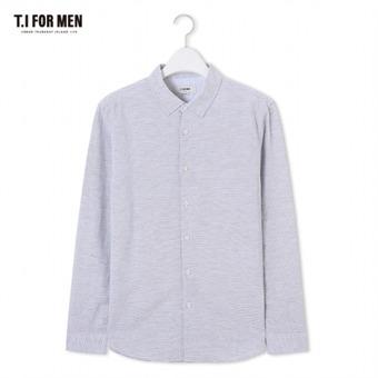 [TI FOR MEN] 티아이포맨 패턴 긴팔셔츠 M174MSH468M1GY2