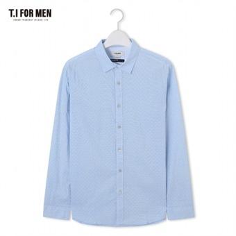 [TI FOR MEN] 티아이포맨 패턴 긴팔셔츠 M174MSH474M1BL5