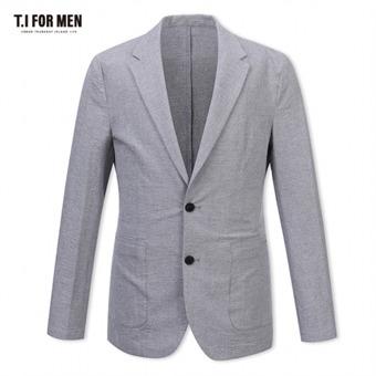 [TI FOR MEN] 티아이포맨 면혼방 투버튼자켓 M172MJK606M1GY1