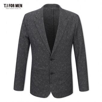 [TI FOR MEN] 티아이포맨 면혼방 패턴 투버튼자켓 M172MJK604M1GY5