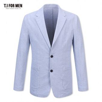 [TI FOR MEN] 티아이포맨 면혼방 투버튼자켓 M172MJK607M1BL1