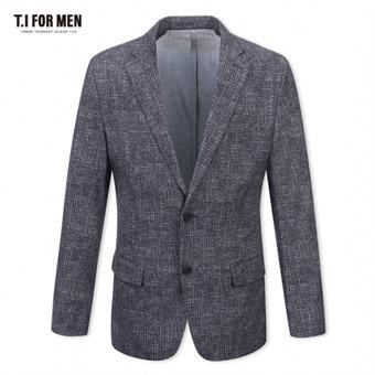 [TI FOR MEN] 티아이포맨 패턴 투버튼자켓 M174MJK643M1GY5