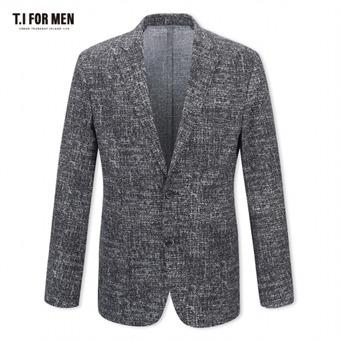 [TI FOR MEN] 티아이포맨 패턴 투버튼자켓 M174MJK644M1GY5