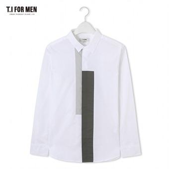 [TI FOR MEN] 티아이포맨 배색 긴팔셔츠 M172MSH413M1WH5
