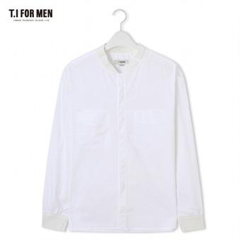 [TI FOR MEN] 티아이포맨 차이나넥 긴팔셔츠 M172MSH420M1WH2