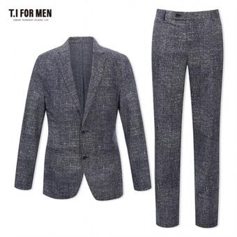 [TI FOR MEN] 티아이포맨 캐쥬얼 투버튼 셋업 수트 M174MJK638M1BL5_M174MPT638M1BL5