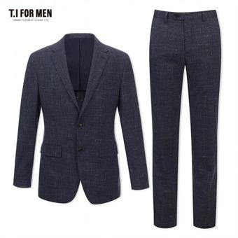 [TI FOR MEN] 티아이포맨 모혼방 패턴 투버튼 정장수트 M172MTJ104M1GY4_M172MTP104M1GY4