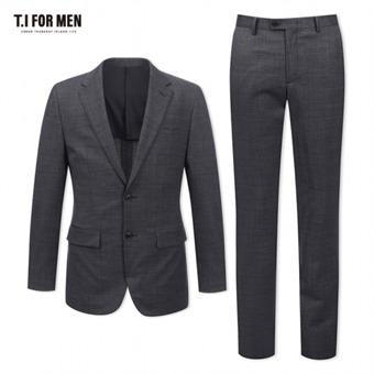 [TI FOR MEN] 티아이포맨 모혼방 패턴 투버튼 정장수트 M172MTJ147M1GY4_M172MTP147M1GY4