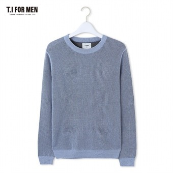 [TI FOR MEN] 티아이포맨 라글란 배색 스웨터 M162MSW408M1KH3