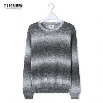 [TI FOR MEN] 티아이포맨 그라데이션 스웨터 M162MSW412M1BK5