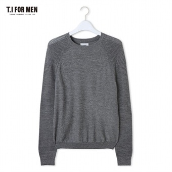 [TI FOR MEN] 티아이포맨 라글란 스웨터 M162MSW419M1GY3