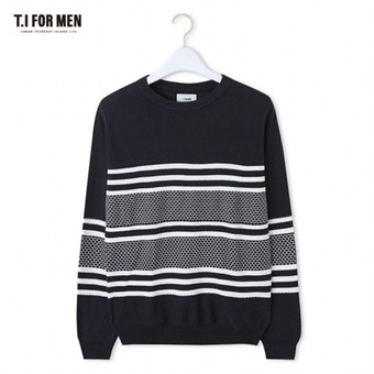 [TI FOR MEN] 티아이포맨 스트라이프 스웨터 M162MSW422M1GY5