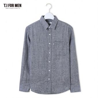 [TI FOR MEN] 티아이포맨 마100 멜란지 긴팔셔츠 M164MSH467M1GY5