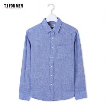 [TI FOR MEN] 티아이포맨 마100 멜란지 긴팔셔츠 M164MSH471M1BL5