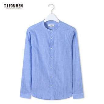 [TI FOR MEN] 티아이포맨 차이나넥 스트라이프 긴팔셔츠 M164MSH453M1BL5