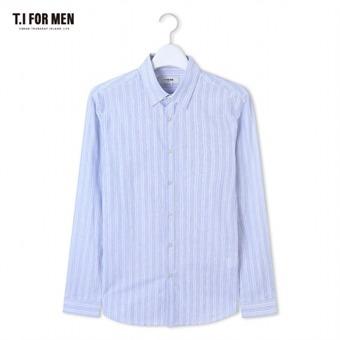 [TI FOR MEN] 티아이포맨 스트라이프 긴팔셔츠 M164MSH454M1BL5