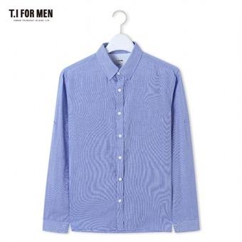 [TI FOR MEN] 티아이포맨 핀체크 긴팔셔츠 M164MSH455M1BL5