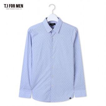 [TI FOR MEN] 티아이포맨 패턴 긴팔셔츠 M162MSH408M1BL5