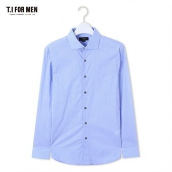 [TI FOR MEN] 티아이포맨 패턴 긴팔셔츠 M162MSH412M1BL5
