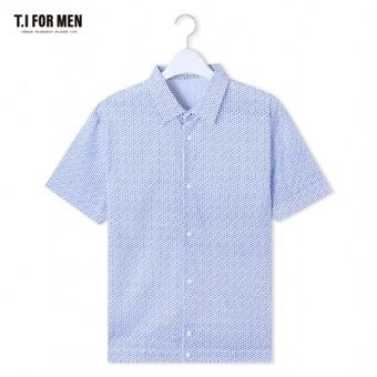 [TI FOR MEN] 티아이포맨 마100 패턴 반팔셔츠 M164MSH478M1BL5
