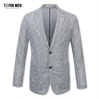 [TI FOR MEN] 티아이포맨 패턴 투버튼자켓 M164MJK250M1GY5