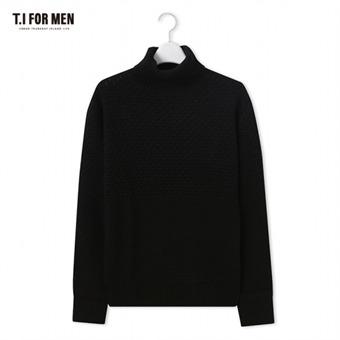 [TI FOR MEN] 티아이포맨 터틀넥 스웨터 M178MSW943M1BK2