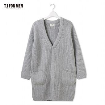 [TI FOR MEN] 티아이포맨 니트 가디건 M178MSW466M1GY2